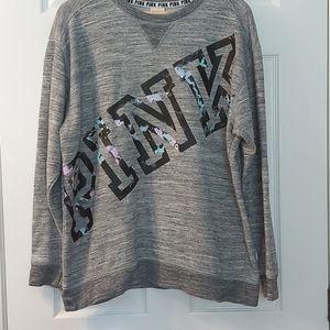 Pink Victoria Secret Heather gray sweatshirt